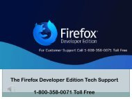 Firefox Developer Edition Tech Support