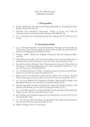Prof. Dr. Martin Laube Schriftenverzeichnis