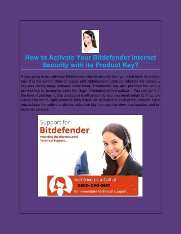 How to Activate Your Bitdefender Internet Security with its Product Key?