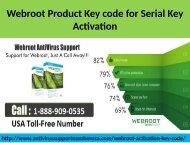 Webroot Product Key code for Activation Call on 1-888-909-0535
