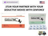 STUN YOUR PARTNER WITH YOUR SEDUCTIVE MOVES WITH CENFORCE