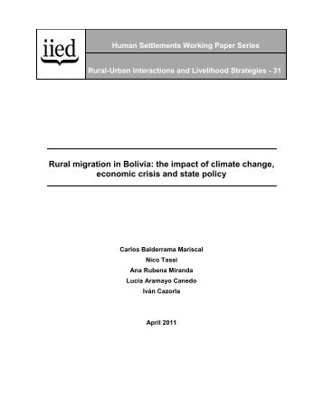 Rural migration in Bolivia - Iied - International Institute for ...