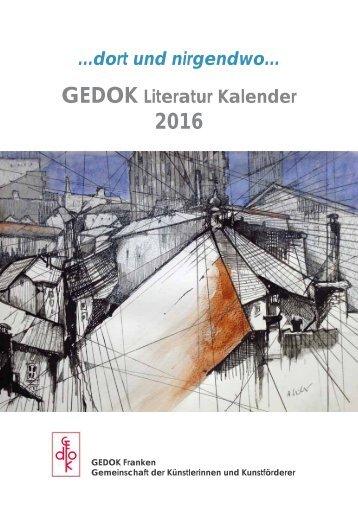 GEDOK-Literatur Kalender 2016 - Auszug