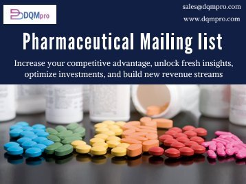 Pharmaceutical Mailing list