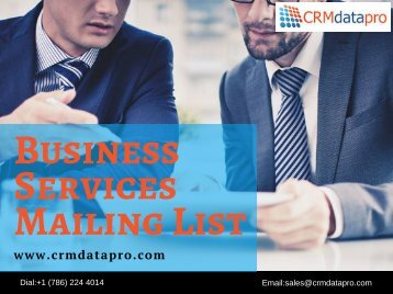 Business Services Mailing List