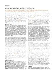 Fremdkörperaspiration im Kindesalter - Hauner Journal