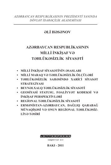 əli həsənov azərbaycan respublikasının milli inkişaf və təhlükəsizlik ...