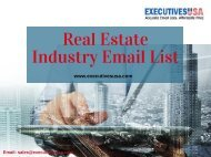 Real Estate Industry Email List (1)