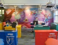 Bright colors in the operatory at Smile Shoppe Pediatric Dentistry Rogers AR