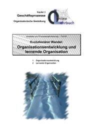 Organisationsentwicklung und lernende Organisation