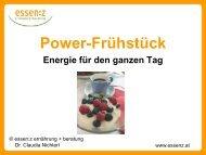 Power- Frühstück - Energie für den ganzen Tag