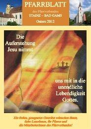 Ausgabe Ostern 2012 - Pfarre Stainz