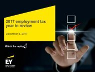 Ernst & Young LLP employment Tax Year in review for 2017