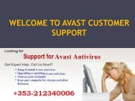 Call Avast Technical Support Number Ireland +353-212340006