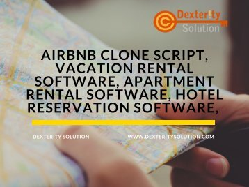 Airbnb clone script, Vacation rental software