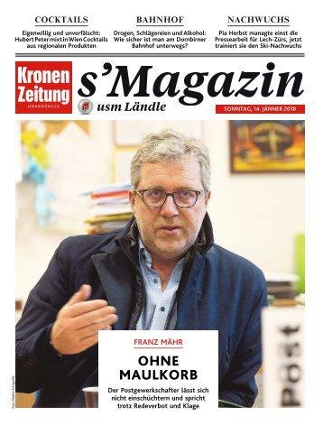 s'Magazin usm Ländle, 14. Jänner 2018