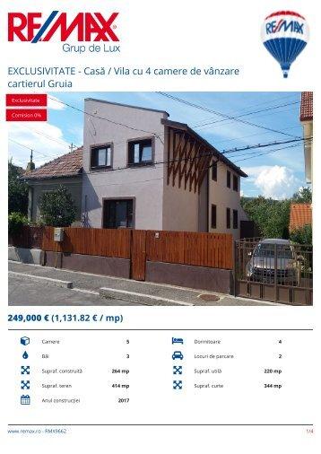 RMX9662 - EXCLUSIVITATE - Casa _ Vila cu 4 camere de vanzare cartierul Gruia [RO]