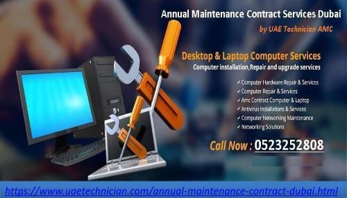 Contact Us 971 523252808 For Annual Maintenance Contract Services In Dubai