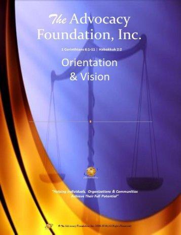Advocacy Foundation Orientation