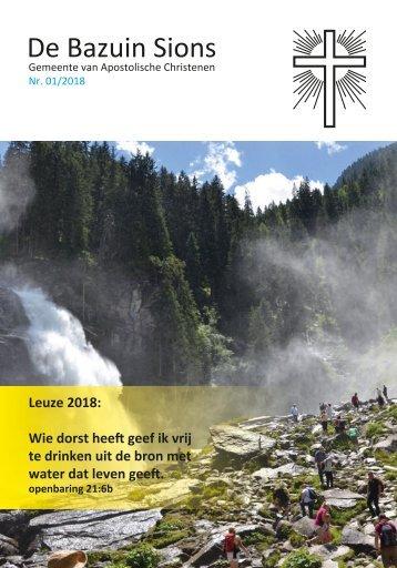Bazuin Sions Januari 2018