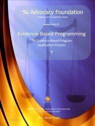 Evidence-Based Program Application  - Vol III