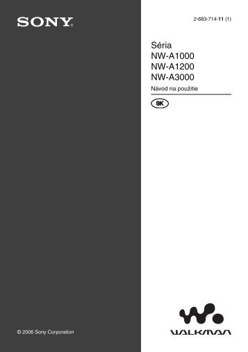 Sony NW-A1200 - NW-A1200 Mode d'emploi Slovaque