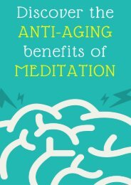 Discover the Anti-Aging benefits of Meditation