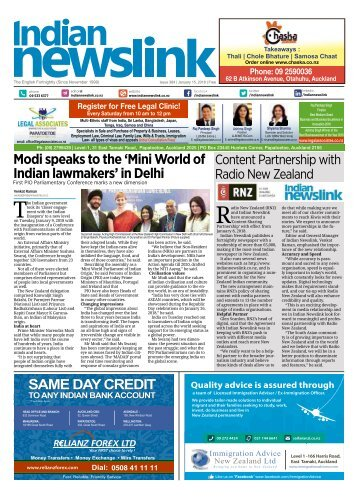 Indian Newslink January 15 2018 Digital Edition