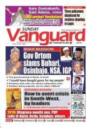 14012018 - BENUE MASSACRE : Gov Ortom slams Buhari, Osinbajo, NSA, IGP