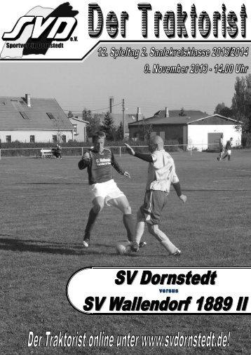 """Der Traktorist"" - 12. Spieltag 2. Saalekreisklasse 2013/2014 - SV Dornstedt vs. SV Wallendorf 1889 II"