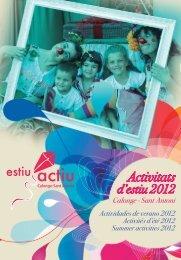 ACTIVITATS ESTIU CALONGE-SANT ANTONI 2012.indd