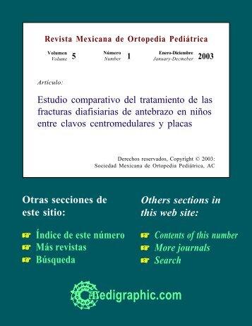 Estudio comparativo del tratamiento de las ... - edigraphic.com