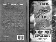 Braden Gregg - Secrets de l art perdu de la prière