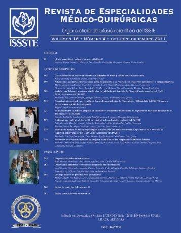 Revista de Especialidades Médico-Quirúrgicas ISSSTE - Revistas ...