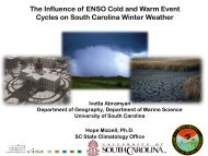 The Influence of ENSO Cold and Warm Event - cisa - University of ...