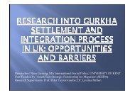 Researcher: Nina Gurung, MA International Social Policy ...