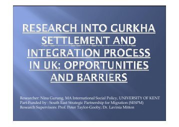 Researcher: Nina Gurung, MA International Social Policy ...