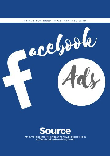Things You Need to Get Started with Facebook Ads