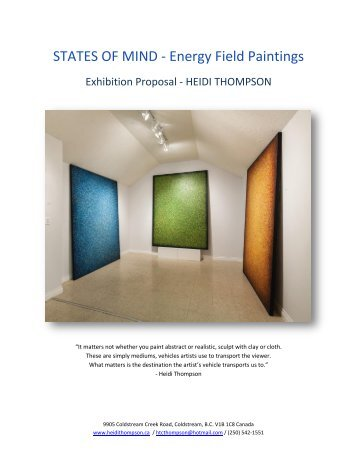 EXHIBITION PROPOSAL - MIND STATES - ENERGY FIELD PAINTINGS