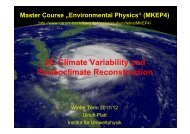 26. Climate Variability and Paeleoclimate Reconstruction - Institut für ...