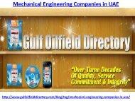 Mechanical Engineering Companies in UAE