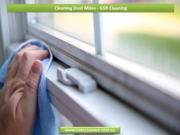 Cleaning Dust Mites - GSR Cleaning