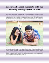 Capture all moments with Pre Wedding Photographers