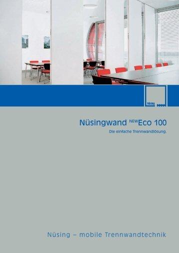 Nüsingwand NEWEco 100 - mobile Trennwand newECO 100
