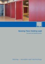 Nüsing Flexi folding wall - Eurodivisal