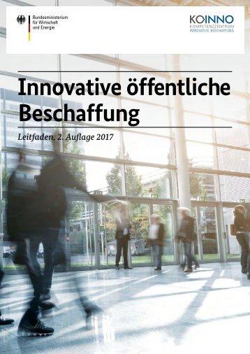 Leitfaden Innovative öffentliche Beschaffung
