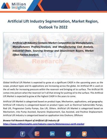 Artificial Lift Industry Segmentation, Market Region, Outlook To 2022