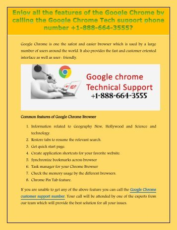 Want to add some color to themes to your Chrome Browser? Call the Chrome Browser support number +1-888-664-3555