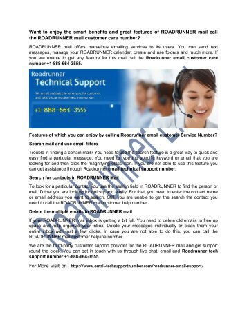 Roadrunner Email Support Number +1-888-664-3555 (2)