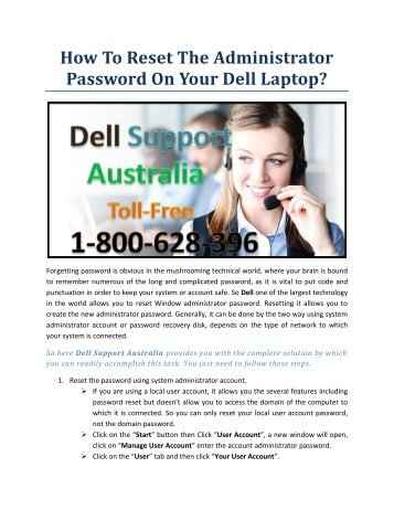 How to Reset the Administrator password on your Dell Laptop?
